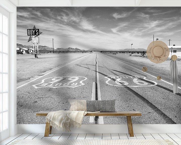 Sfeerimpressie behang: Route 66 bij Roy's Motel van Loek van de Loo