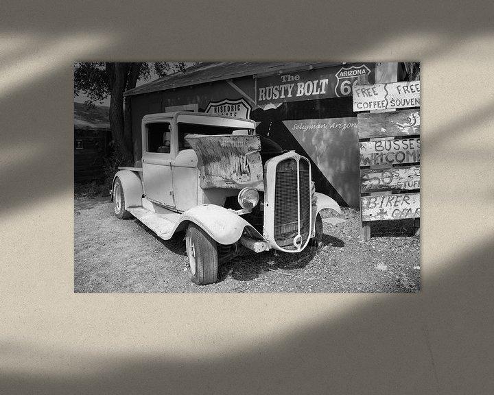 Beispiel: Oude auto langs de Route 66 von Loek van de Loo