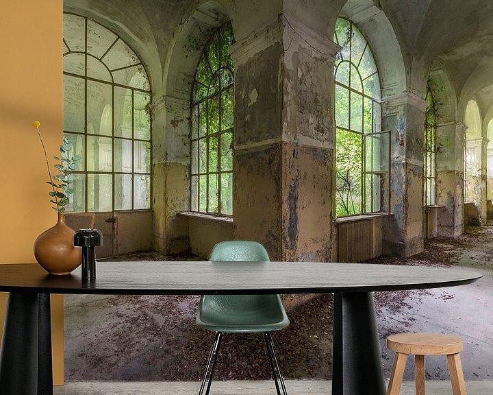 Beispiel fototapete: Grüne Halle von Perry Wiertz