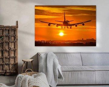 Martinair 747 freighter lands at Schiphol airport von Dennis Dieleman
