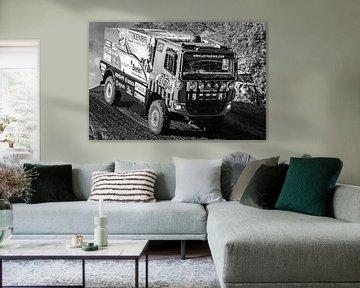Firemen dakar truck z/w von Boreel Fotografie