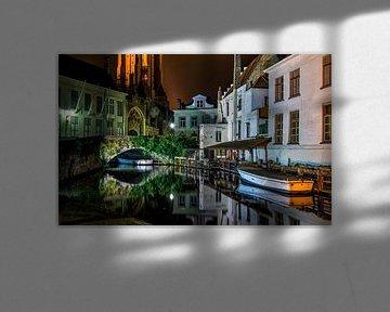 Brugge tijdens de nacht van Karl Smits