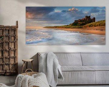 Kasteel Bamburgh, Northumberland, Engeland
