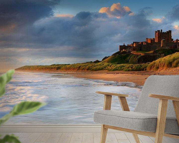 Sfeerimpressie behang: Kasteel Bamburgh, Northumberland, Engeland van Henk Meijer Photography