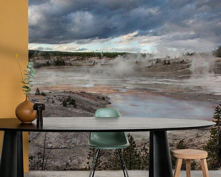 Sfeerimpressie behang: porcelain basin - yellowstone national park van Koen Ceusters