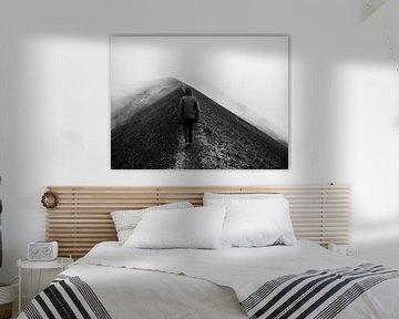 Kraterrand Ol Donyo Lengai von Stijn Cleynhens