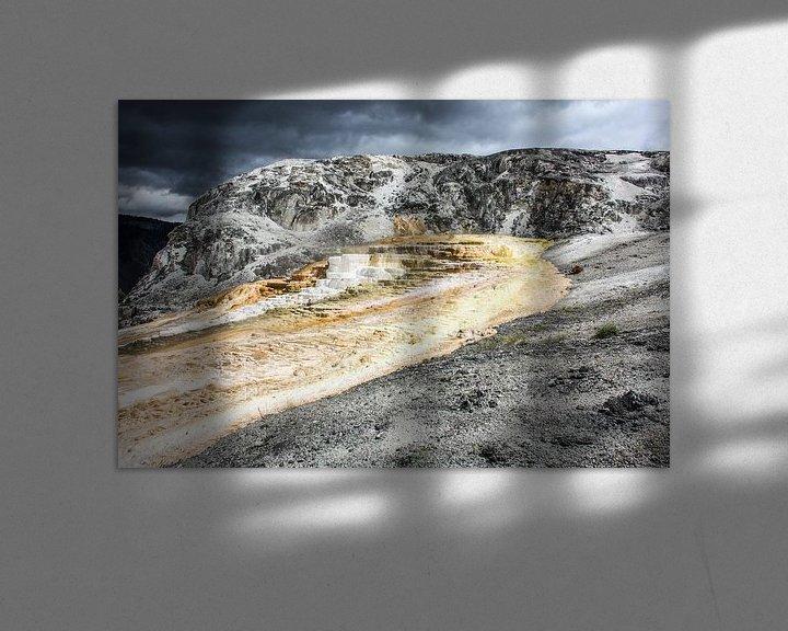 Sfeerimpressie: mound terrace - yellowstone national park van Koen Ceusters