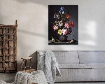 Blumen in einer Vase, Balthasar van der Ast