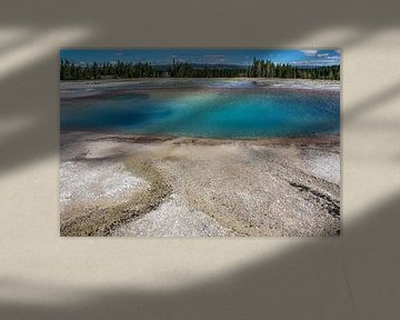 turquoise pool - yellowstone national park sur Koen Ceusters