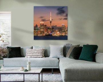 Coucher de soleil Auckland, Nouvelle-Zélande sur Henk Meijer Photography