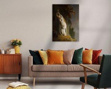 Andromeda an einen Felsen - Rembrandt van Rijn