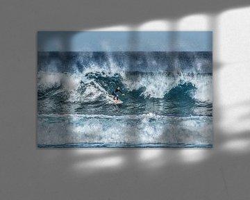 Surfen op oceaangolven bij Famara - Lanzarote von Harrie Muis
