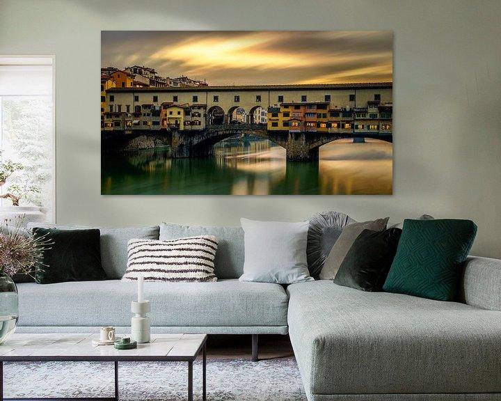 Beispiel:  Ponte Vecchio - Florenz - Langzeitbelichtung I von Teun Ruijters