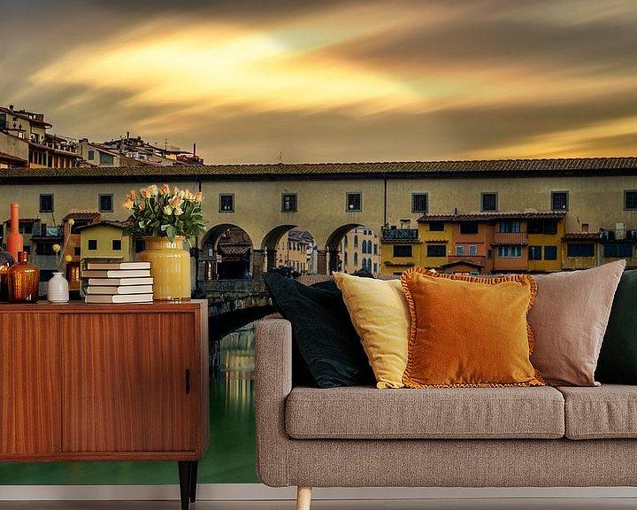 Beispiel fototapete:  Ponte Vecchio - Florenz - Langzeitbelichtung I von Teun Ruijters