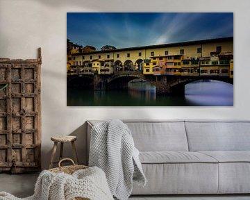 Ponte Vecchio - Florence - long exposure II van Teun Ruijters
