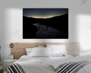 Meandering river in twilight  van Luis Boullosa