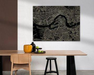 Lichtkarte von Rotterdam von Frans Blok