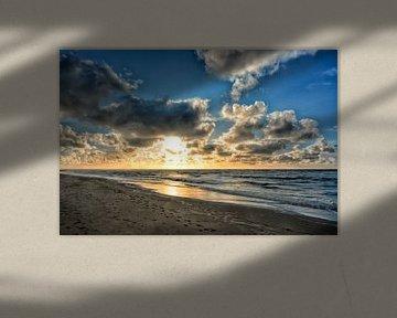 seaside sunset van Joachim G. Pinkawa