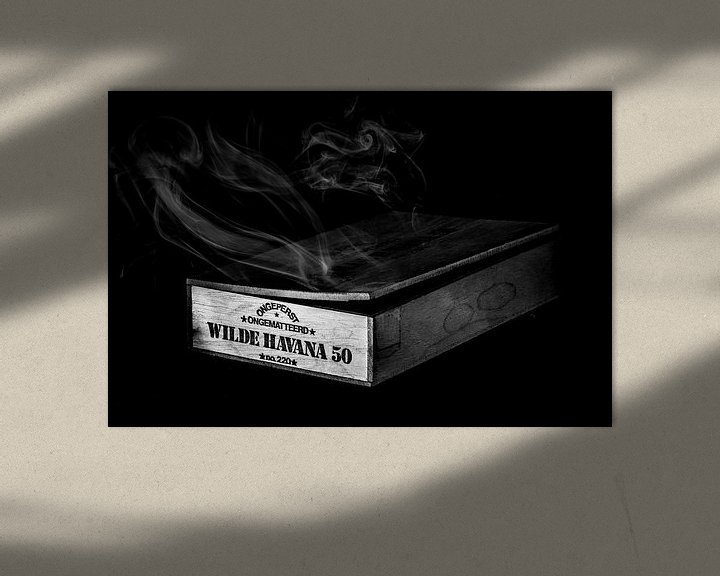 Sfeerimpressie: Waar rook is, zijn Wilde Havana's (Zwart-wit) van Marcel Runhart