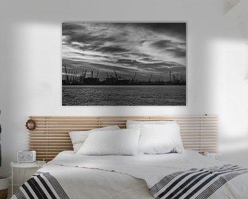 Rotterdamse haven in zwart-wit von Marcel Runhart