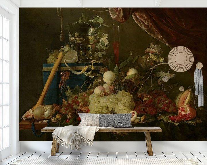 Beispiel fototapete: ein Stillleben mit Früchten und einer Schmuckschatulle, Jan Davidsz de Heem