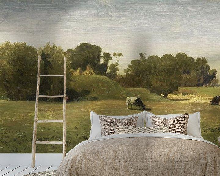 Beispiel fototapete: Landschaft in der Nähe von Abcoude, Paul Joseph Constantin Gabriël