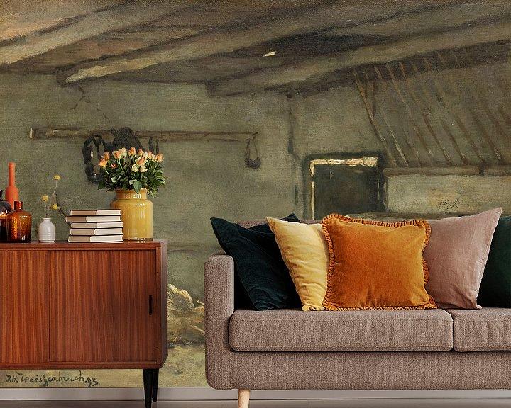 Beispiel fototapete: Stall-Interieur, Johan Hendrik Weissenbruch