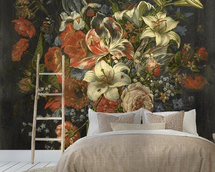 Beispiel fototapete: Stilleben mit Blumen und Früchten, Ottmar Elliger (I)