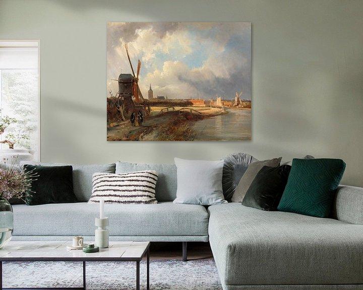 Beispiel: Ansicht von Den Haag, Cornelis Springer