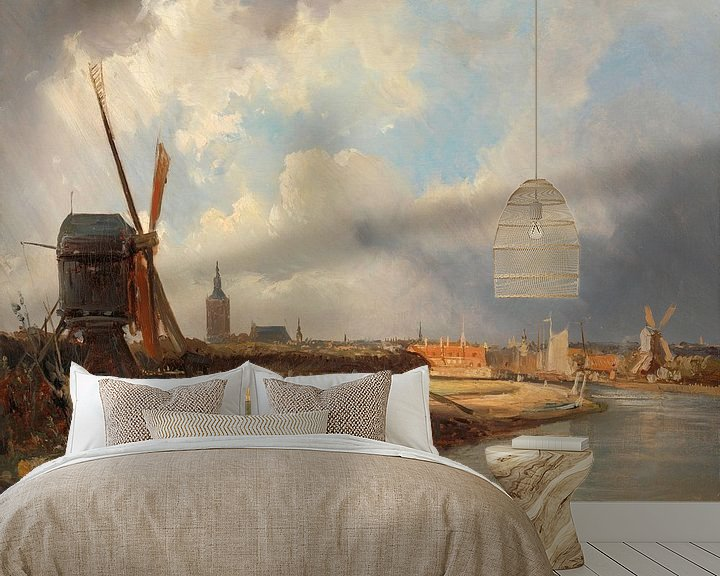 Beispiel fototapete: Ansicht von Den Haag, Cornelis Springer