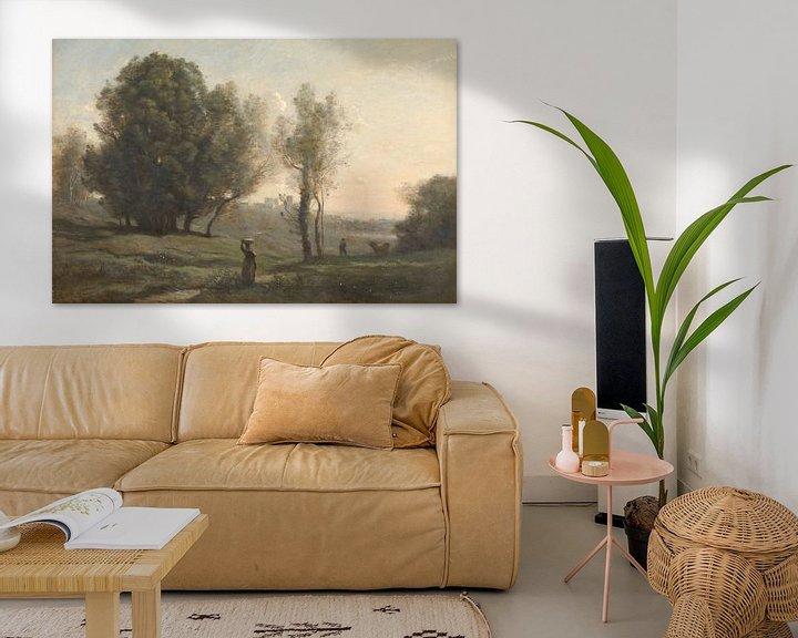 Beispiel: Landschaft ( Les Landes), Jean-Baptiste Camille Corot
