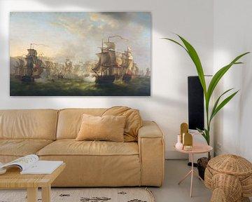 Niederländische und britischen Flotte - Martinus Schouman