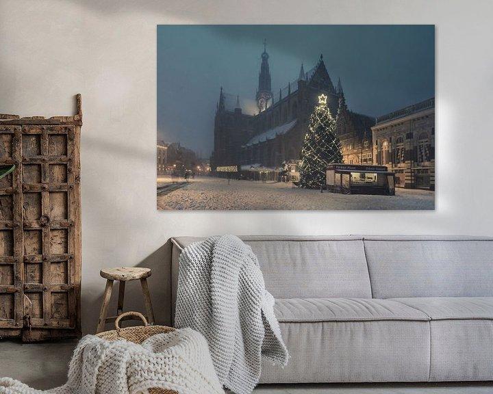 Sfeerimpressie: Haarlem: Kerstsfeer op de Grote Markt. van Olaf Kramer