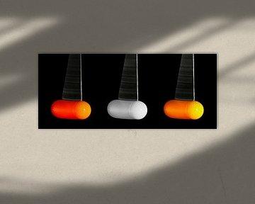 Pendelnde Golfbälle von Leopold Brix