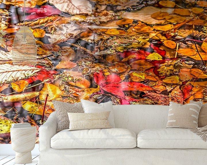 Sfeerimpressie behang: Herfstcollage van Frans Blok