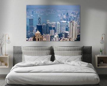 Hong Kong von oben von Inge van den Brande