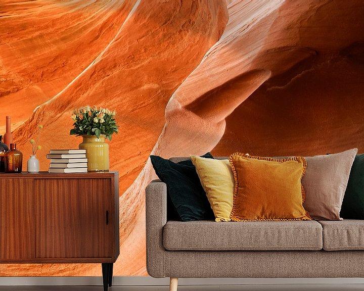 Sfeerimpressie behang: Antelope Canyon 3 van Louis ten Kate