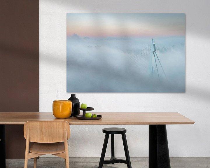 Sfeerimpressie: Erasmusbrug in de mist van Ronne Vinkx