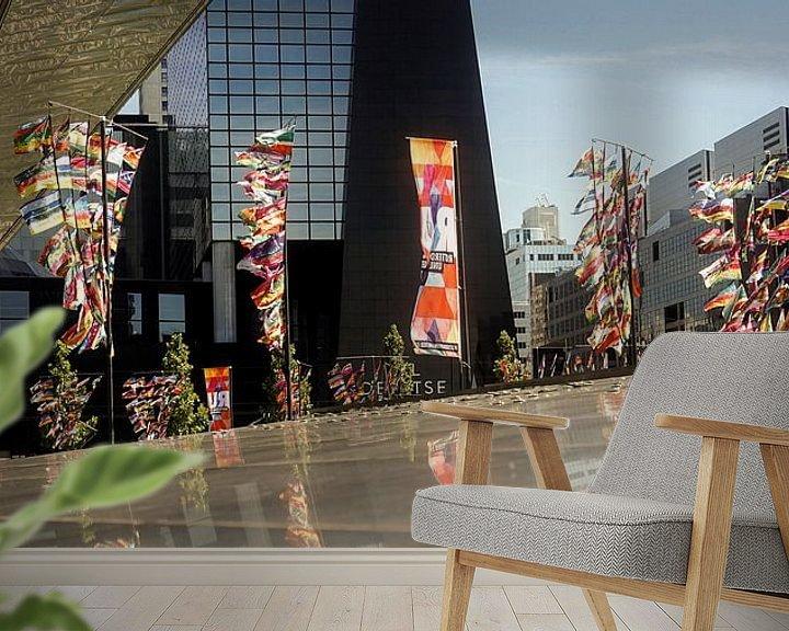 Sfeerimpressie behang: 010 Stationsplein van Louis ten Kate
