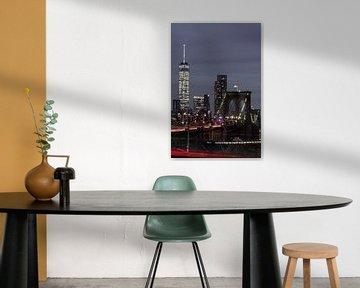 Brooklyn Bridge und das One World Trade Center sur Kurt Krause