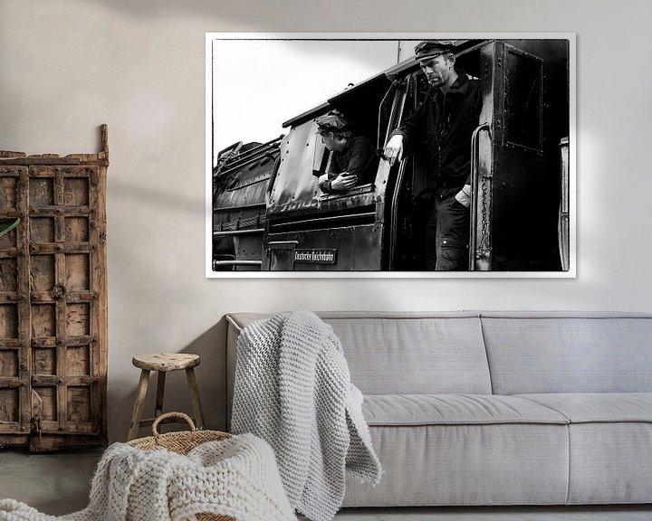 Sfeerimpressie: Steamtrain driver van Fouchienus Molema