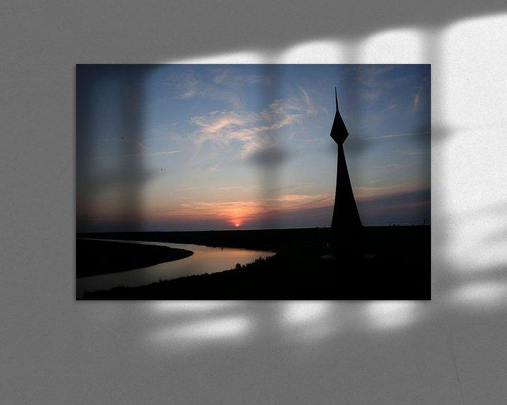 Sfeerimpressie: Waaiboei op dijk, Nieuwe Statenzijl van Jan Sportel Photography