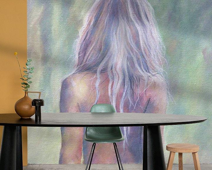 Beispiel fototapete: Bemalter nackter Rücken einer sexy Frau von Atelier Liesjes