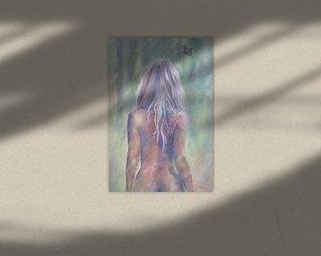 Bemalter nackter Rücken einer sexy Frau von Atelier Liesjes