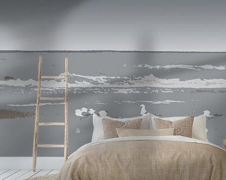 Sfeerimpressie behang: Meeuwen van Jan Wiersma