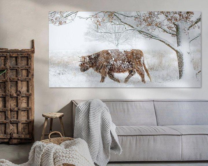 Sfeerimpressie: Door de sneeuw heen van Nando Harmsen