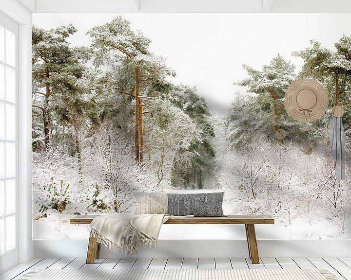 Sfeerimpressie behang: De weg door de winter van Nando Harmsen