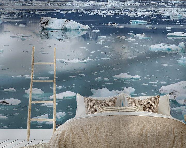 Sfeerimpressie behang: Jokulsarlon IJsland van Wilco Berga