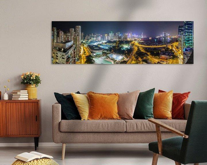 Sfeerimpressie: Hong Kong Panorama van Marcel Samson