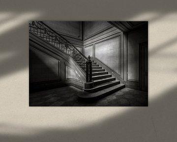 Treppe 2 schwarz/weiss von Olivier Photography
